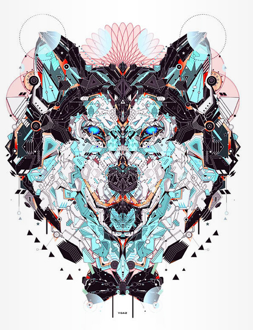 Wolf nice animal shapes art yo az