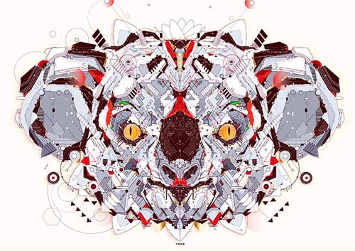 Tarsier animal shapes art yo az