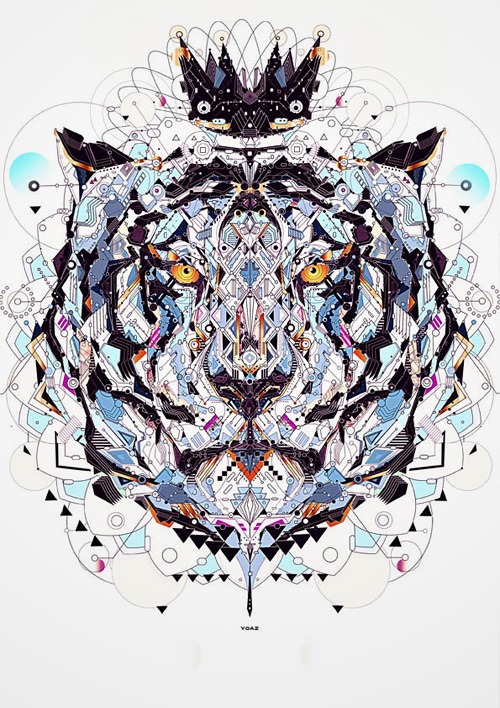 Tiger king animal shapes art yo az