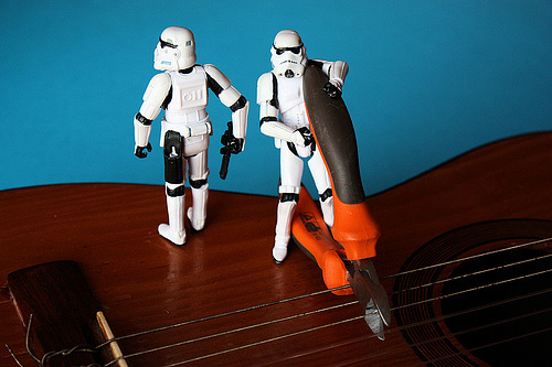 Guitar string stormtrooper photogprahy