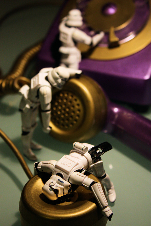 Telephone stormtrooper photogprahy