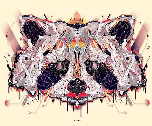 Raccoon animal shapes art yo az