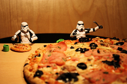 Pizza stormtrooper photogprahy