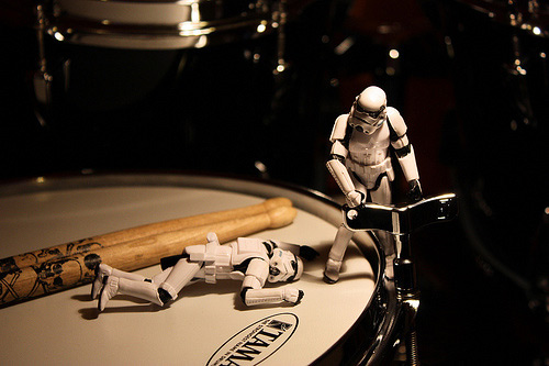 Drum tuning stormtrooper photogprahy