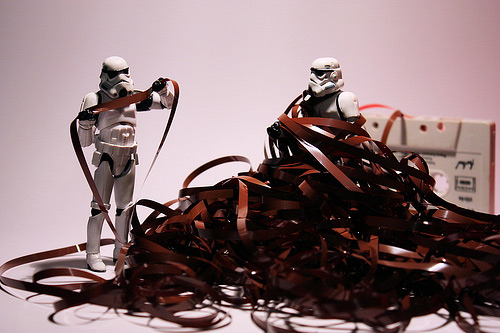 Film strip stormtrooper photogprahy