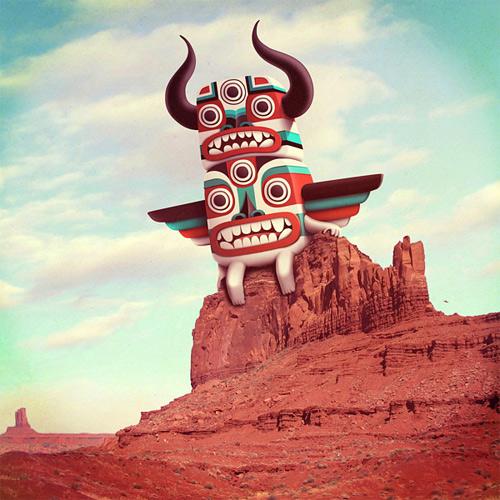 Totem monster illustration