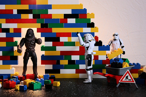 Wall destroyed stormtrooper photogprahy