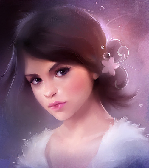 Beautiful girl portrait illustration digital art