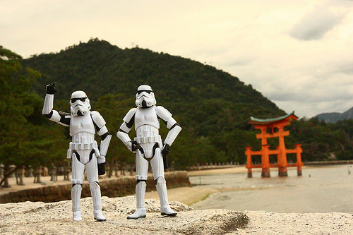 Tourist stormtrooper photogprahy