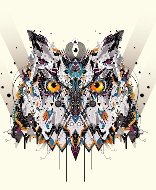 Owl animal shapes art yo az