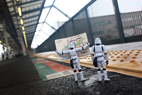 Train station stormtrooper photogprahy
