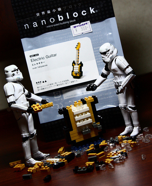 Lego blocks stormtrooper photogprahy