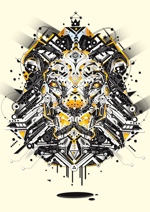 lion animal shapes art yo az