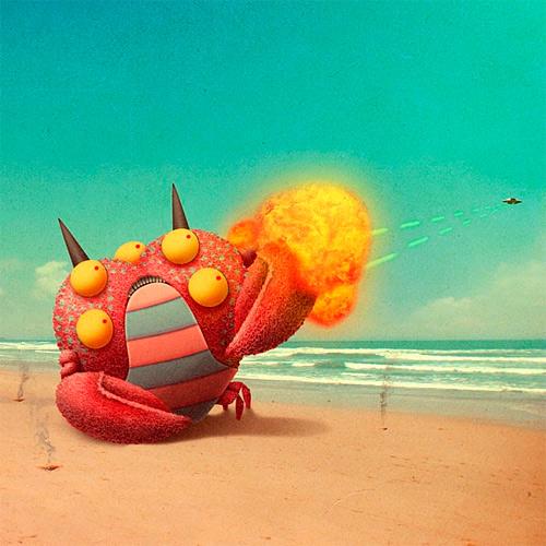 Crab monster illustration