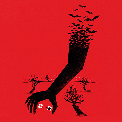 Scary hand red