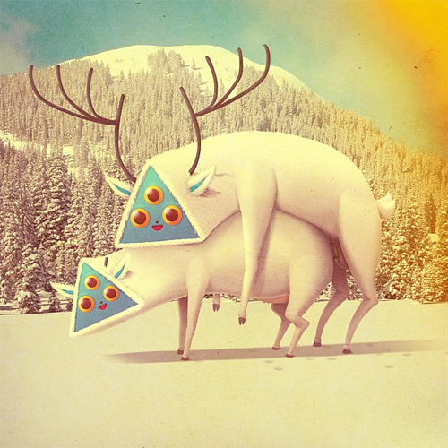 Deer monster illustration