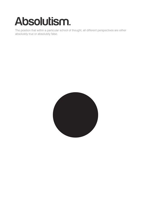 Absolutism philosophy philographics carreras