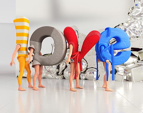 Love 3D Type