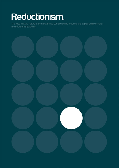 Reductionism philosophy philographics carreras