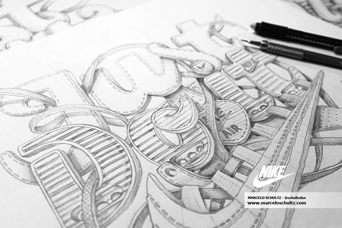 Nike just do it Schultz typography
