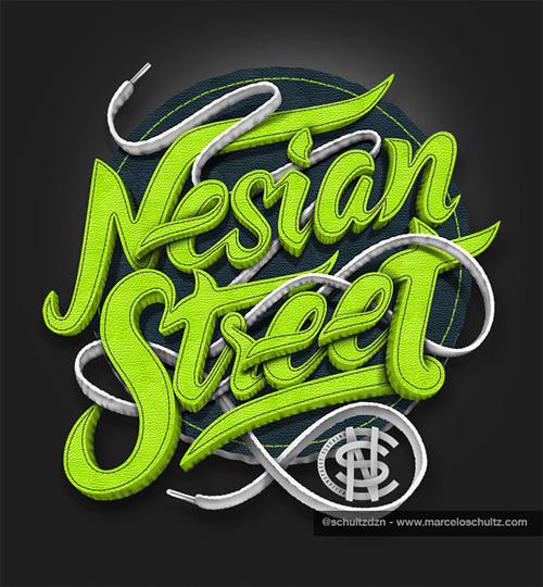 Nesian street shirt design Schultz typography