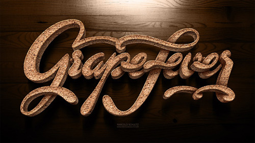 Grape fever Schultz typography lettering