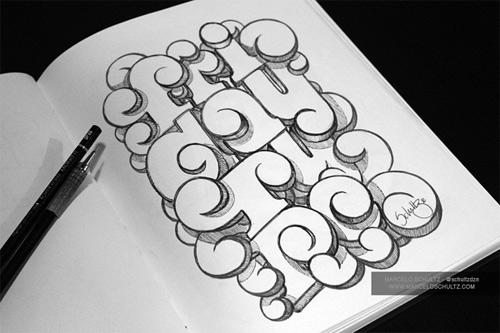 cute circle typography