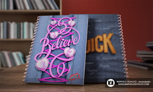 believe quick notebook cover designs