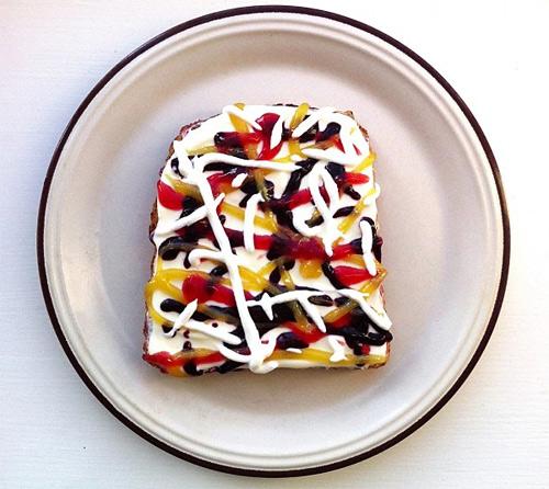 ida skivenes art toast food art
