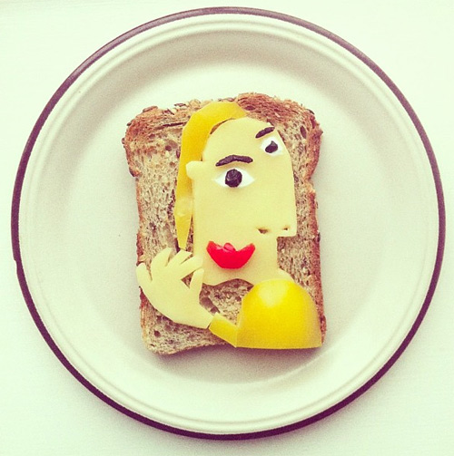 ida skivenes art toast food art