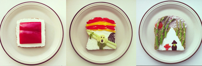 Famous Paintings Served As Toasts In Plates