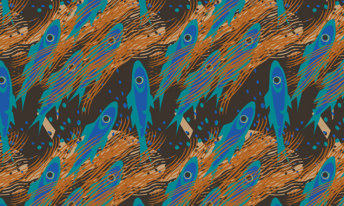 Blue free fish patterns