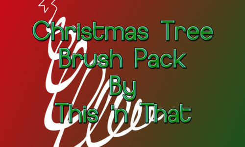 High res free christmas tree brush