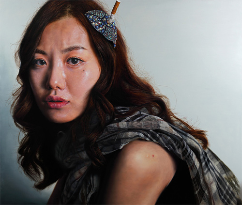 kang-hoon kang photorealistic paintings