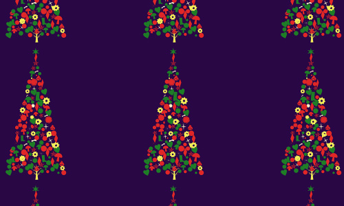 Violet free christmas tree patterns
