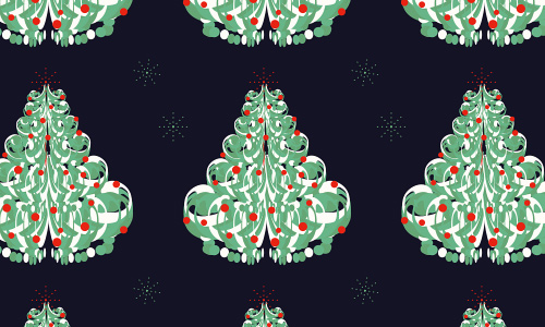 Cute free christmas tree patterns