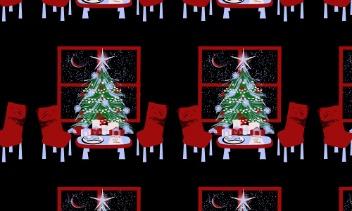 Santa free christmas tree patterns