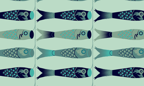 Winter free fish patterns