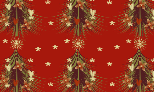 Red free christmas tree patterns