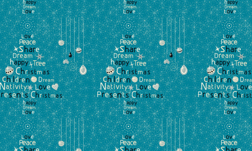 Typography blue free christmas tree patterns