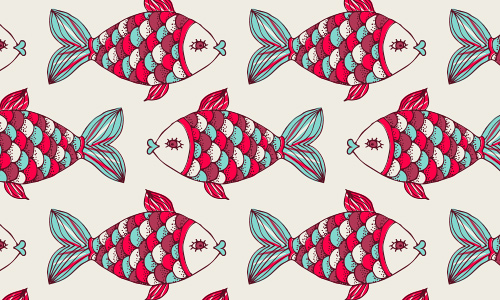 Doodle free fish patterns