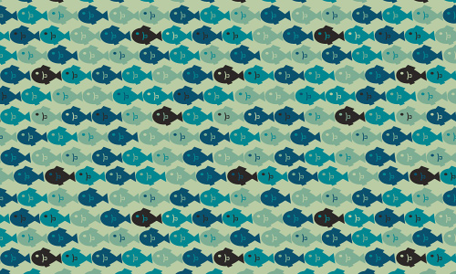Blue little free fish patterns
