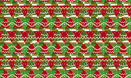 Wrapping free christmas tree patterns