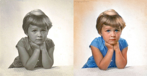 colorized photos vintage