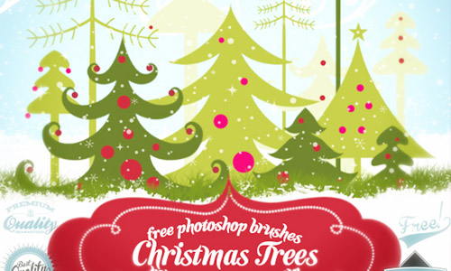 free Christmas trees brush set