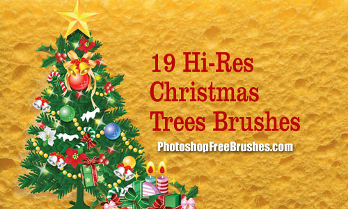 PS free christmas tree brush