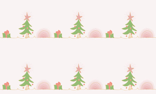 cute Christmas tree pattern
