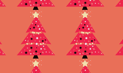 Pink free christmas tree patterns