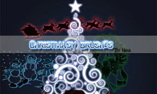 free Christmas tree brushes