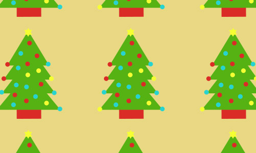colorful Christmas tree patterns